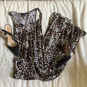 H&M Dresses - H&M Leopard Print Maxi Dress
